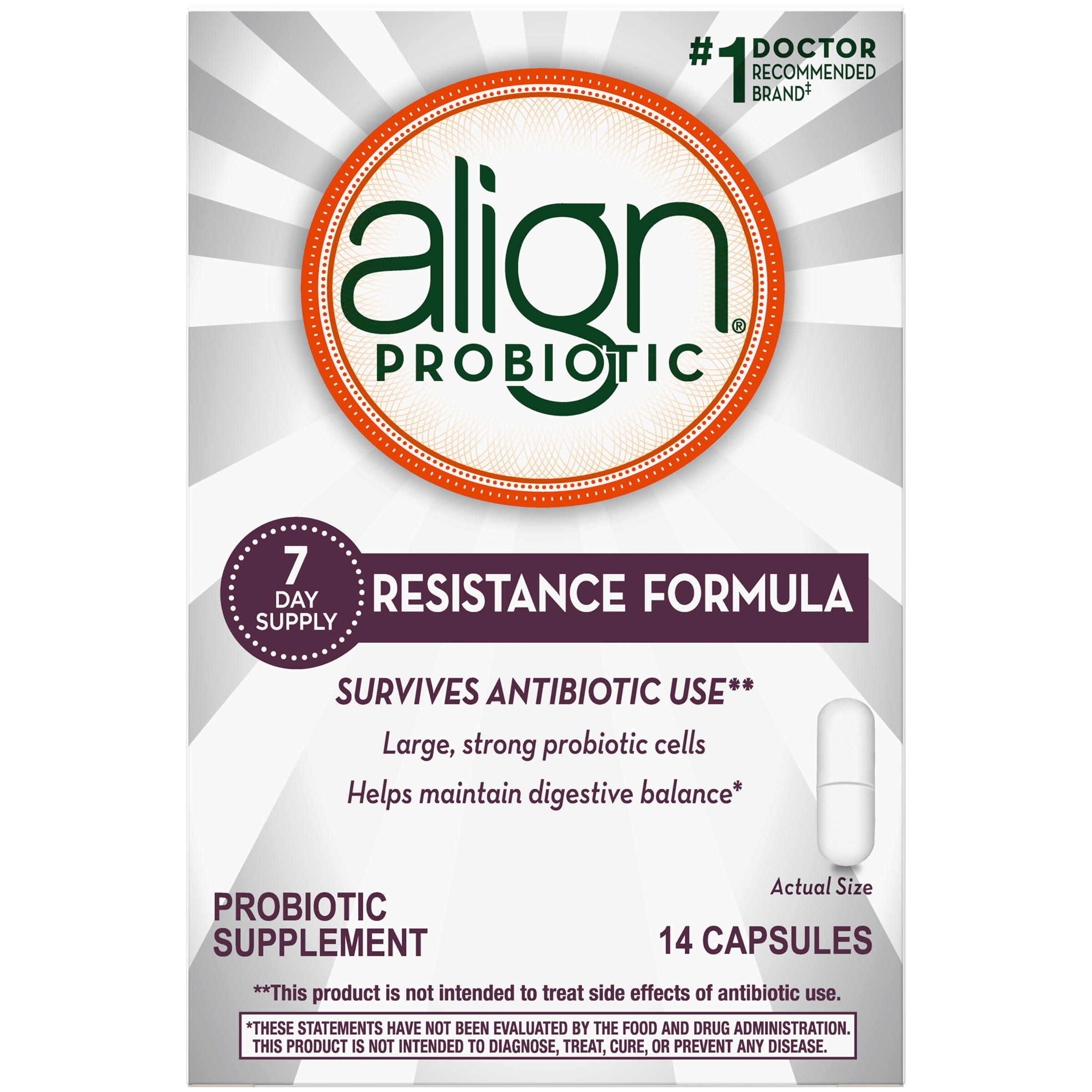 Align Resistance Formula Probiotic Supplement - 14ct