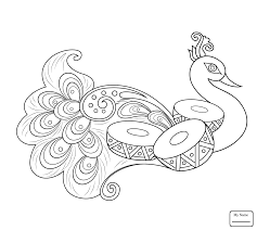 Coloring Pages Rangoli Indian With Elephant Arts Culture