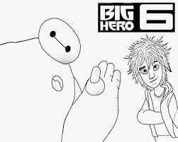 Baymax Clipart Outline Cute Simple Kids Free Printable Big Hero 6 Coloring Pictures To Color