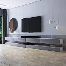 selsey tv lowboard hylia weiß matt grau hochglanz 2x140 cm breit