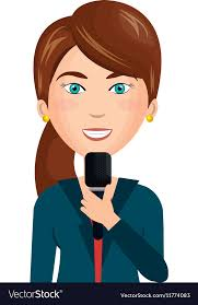 Breaking News Reporter Character Vector Image