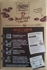 test nouveauté culinaire moelleux au chocolat nestlé dessert