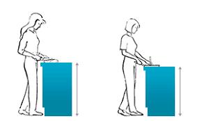die höhe der arbeitsfläche in der küche richtig berechnen