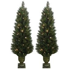6ft Pre Lit Christmas Trees Black by Pre Lit Trees 5u0027 Flocked Spruce Prelit Tree By Vickerman