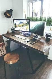 Industrial Style Designer Workspace By Vadim Sherbakov Rustic Deskwooden Office Desk Chairs