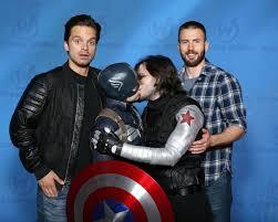 Sebastian Stan Chris Evans Captain America Winter Soldier Stucky Cosplay