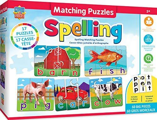 Masterpieces Educational - Spelling Matching Puzzle