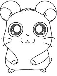 Printable Hamster Hamtaro Coloring Pages