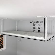 saferacks overhead garage storage rack 4 x 8 ceiling dropdown
