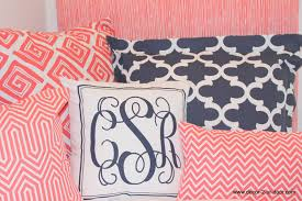 bedroom coral and navy chevron bedding large slate wall decor