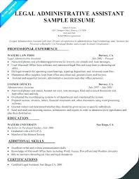 Resume Legal Secretary Example Tags Sample Assistant