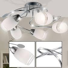 design decken leuchte glas satiniert chrom esszimmer küchen