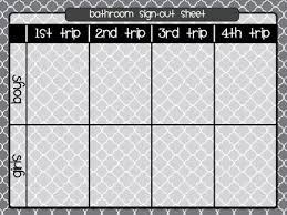 Printable Bathroom Sign Out Sheet For Classroom by Best 25 Classroom Bathroom Ideas On Pinterest Kindergarten