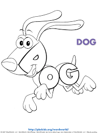 Word World Coloring Pages