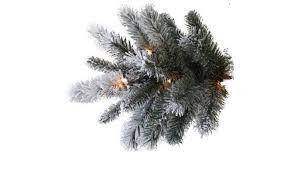 9 Slim Christmas Tree Prelit by Pre Lit 9 U0027 Slim Winter Frost Pine Artificial Christmas Tree Groupon