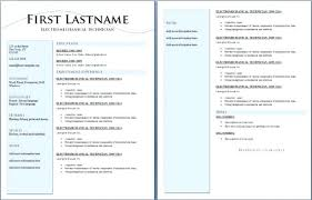 Two Page Resume Example Blank To Print Free