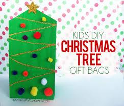 Kids DIY Christmas Tree Gift Bag
