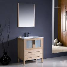 Home Depot Canada Double Sink Vanity by Shop Fresca Bari Light Oak Undermount Single Sink Bathroom Vanity