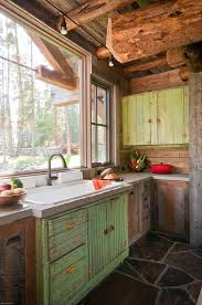 Popular Of Cabin Kitchen Ideas And 330 Best Hunting Camp Images On Home Design Log