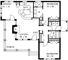 100 Www.homedesigns.com Country Style House Plan 2 Beds 2 Baths 1065 SqFt Plan