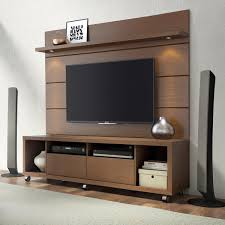 Manhattan Comfort Cabrini TV Stand And Floating Wall TV Panel With LED Lights 18