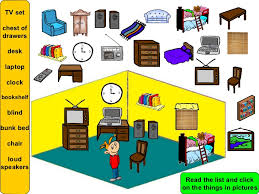 Parts of a house and furniture