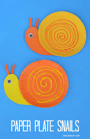 Pape Plate Snail Craft For Kids