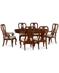 bordeaux 7 piece round dining room furniture set round pedestal