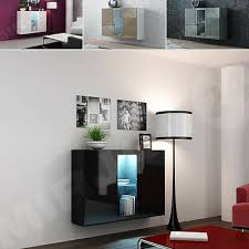 hängeschrank kommode rack weiß schwarz glanz wohnzimmer