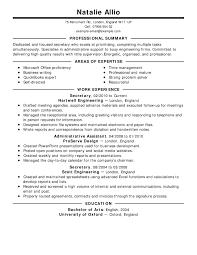 Secretary Resume Example Classic 2 Full Like Professional Job Examples
