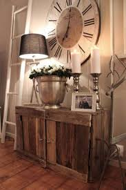 Clocks Giant Wall Extra Large Decorative Vintage Wooden Clock Above Rustic