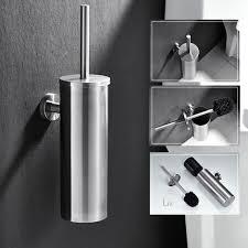auralum wc bürste zur wandmontage edelstahl und rost beständig klobürste und halter dauerhaft toilettenbürste für badezimmer wc