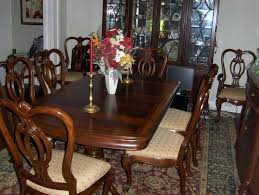 Thomasville Dining Room Table Lovely Set 8 Chairs 2 Leaves Sets
