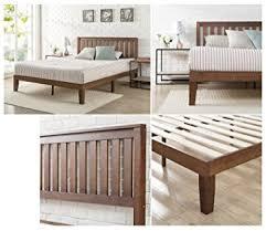 amazon com zinus 12 inch wood platform bed with headboard no