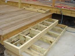 How To Build A Platform Bed With Drawers Video by Deck Stairs Landing With Box Stairs To Patio Need Help Plants