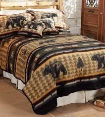 Bear Fever Fleece Set Rustic Lodge Bedding