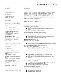 Sample Resumes For Registered Nurses Nurse Resume Examples Example Of