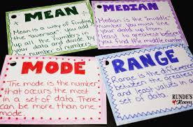 mode median and range runde s room math journal sundays mode median and range