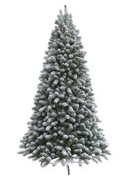 75 Slim Flocked Christmas Tree by Hallmark Heritage Spruce Prelit Led Green Artificial Christmas
