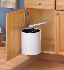 Under Cabinet Trash Can Pull Out by Pull Out Built In Trash Cans Cabinet Slide Under Sink Garbage