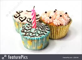 Fancy Birthday Cupcake Royalty Free Stock