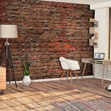 fototapete steinwand wand mauer ziegel stein für wohnzimmer