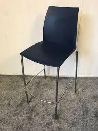 Blue High Chair Chrome Legs