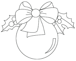 Christmas Tree Ornaments Drawing To Color