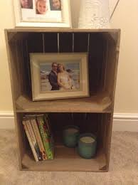 Handmade Rustic Wooden Apple Crate Bedside Table