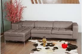canapé d angle taupe canapé en simili cuir d angle design mael