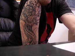 Tree Of Life And Native American Chameleon Tattoo