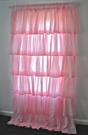 Light Pink Ruffle Blackout Curtains by Curtain Gypsy Ruffled Curtains Ruffle Pink Light Sheer 049