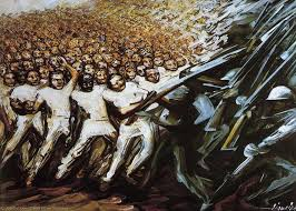 David Alfaro Siqueiros Famous Murals by Struggle For Emancipation 1961 By David Alfaro Siqueiros 1896