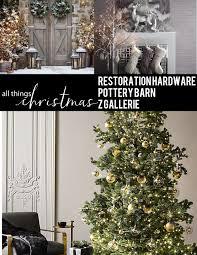 Christmas Decor Tree Mantle Stockings Wreath Ornaments Restoration Hardware